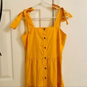 [NWT/XS] 🌻Goldenrod Button Front Summer Dress